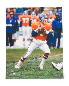 Signed John Elway Photo