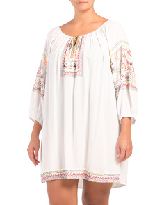 Plus Multi Embroidered Cover-up