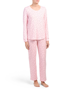 Long Sleeve Pullover Pajama Set