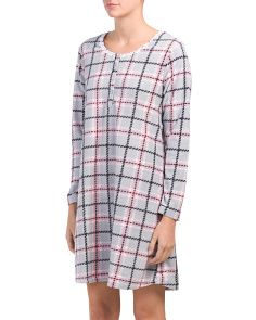 Microfleece Long Sleeve Short Nightshirt