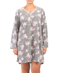 Plus Microfleece Long Sleeve Nightshirt