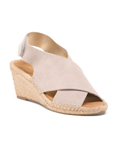 Made In Spain Suede Wedge Espadrilles
