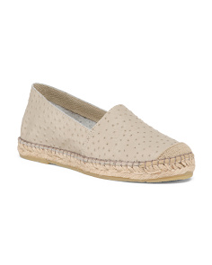 Made In Spain Leather Flat Espadrilles