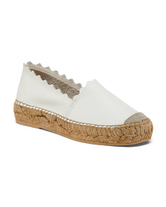 Made In Spain Leather Espadrilles