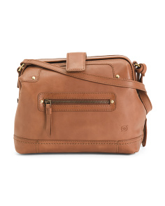 Clayton Frame Leather Crossbody