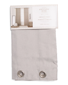 52x96 Set Of 2 Loha Linen Look Curtains