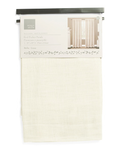 38x84 Set Of 2 Bella Linen Look Curtains