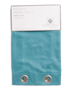 38x84 Set Of 2 Porto Linen Look Curtains