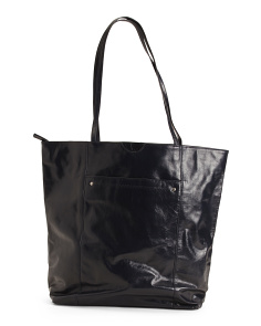 North South Leather Tote