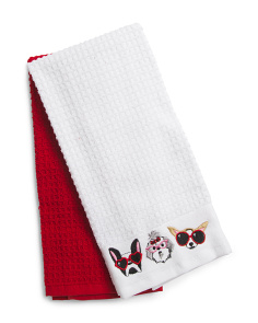 2pk Pupparazzi Kitchen Towels