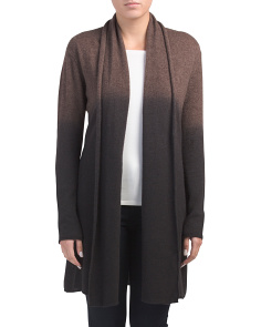 Dip Dye Breezy Cashmere Duster Cardigan