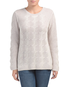 Merino Wool Cashmere Blend Pullover Sweater