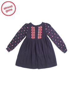 Little & Big Girls  Embroidered Bodice Dress