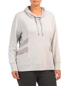Plus Hoodie Pull Over Top
