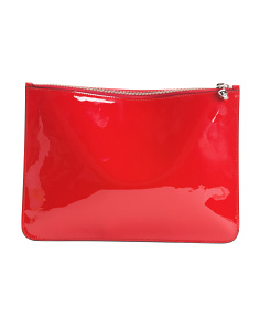 Made In Italy Patent Leather Pouch