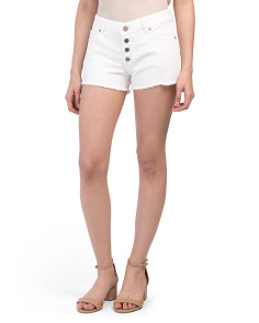 Renee Button Front Cut Off Shorts