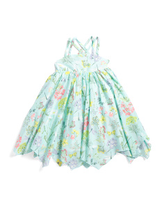 Toddler Girls Floral Butterfly Dress