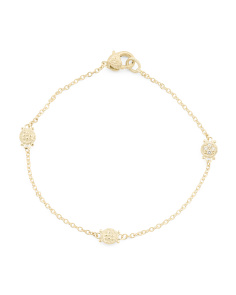 14k Gold Diamond Station Juliette Bracelet