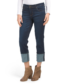 Straight Leg Jeans With Deep Cuff