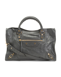 Made In Italy Leather Classic City Bag
