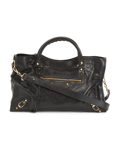 Made In Italy Classic City Aj Leather Bag