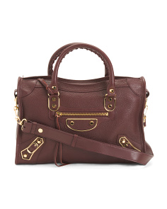 Made In Italy Leather City Bag
