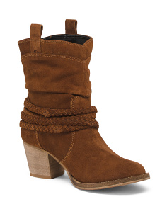 Slouch Suede Western Boots