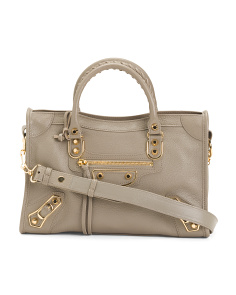 Made In Italy Classic City Leather Satchel