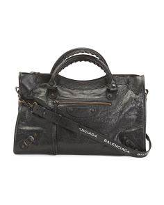 Made In Italy Leather Classic City Aj Bag