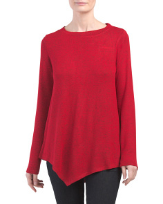 Cozy Top With Asymmetrical Hem