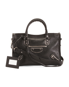 Made In Italy City Leather Satchel