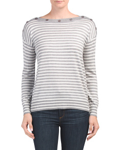 Soft Striped Boat Neck Sweater