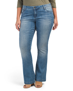Plus Chrissy Flare 5 Pocket Jeans