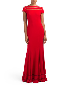 Cap Sleeve Gown