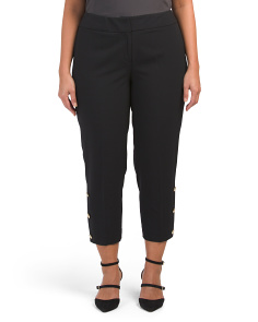 Plus Button Detail Pants