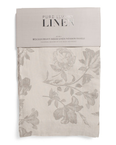 Made In India 50x96 Set Of 2 Linen Curtains