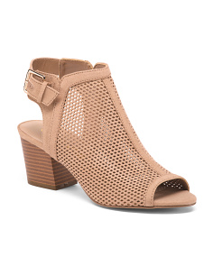 Perforated Covered Block Heels