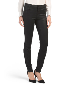 Made In Usa Mid Rise Super Skinny Coated Jeans