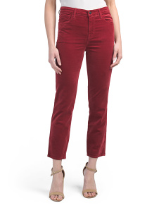 High Rise Cropped Cigarette Pants