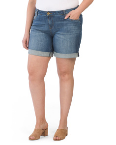 Plus Catherine Boyfriend Roll-up Shorts