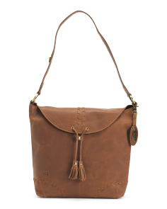 Distressed Leather Oakfort Hobo