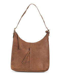Distressed Leather Antonio Hobo