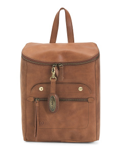 Distressed Leather Goldfield Backpack