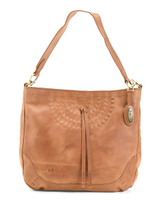 Distressed Leather Leavenworth Hobo