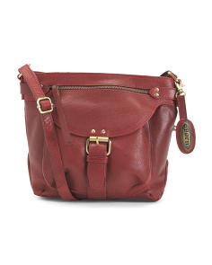 Distressed Leather Pearce Crossbody