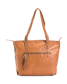 Leather Bronco Delamar Tote