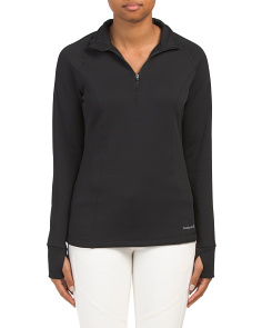 Stretch Fleece Quarter Zip Top