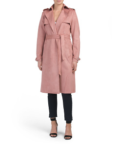 Mel Faux Suede Trench