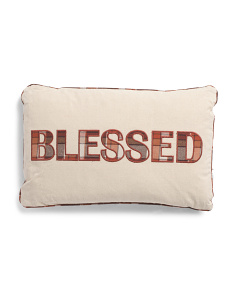 14x22 Plaid Blessed Pillow