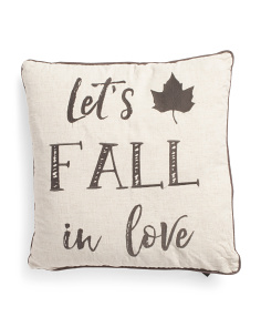 20x20 Lets Fall In Love Pillow